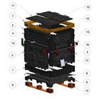 Stackabox™, Collapsible Container for Preforms, Consists of Replaceable Parts