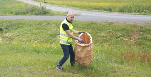 DS Smith's Ii site in Finland collected bags of trash