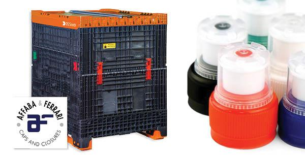 Affaba & Ferrari chooses Stackabox collapsible container for the dispensing of Caps and Closures