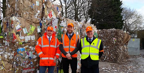 Sir David Crausby visits DS Smith Bolton Recycling Depot