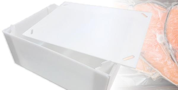 Polypropylene Boxes to Transport Vacuum Packed Fish