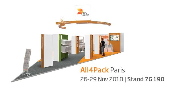 DS Smith Plastics' European Business Units Will Be Exhibiting at the All4pack 2018 Fair in Paris from 26-29 November