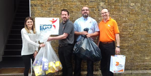 Kemsley Mill collect and deliver Easter eggs to local children's charity