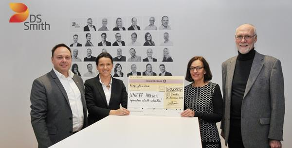 DS Smith spendet erneut 50.000 Euro an UNICEF